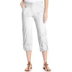 NWOT Style & Co Bright White Mid Rise Capri Pants
